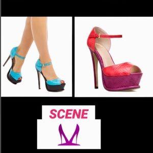 SCENE•Candi Snake Skin Heel